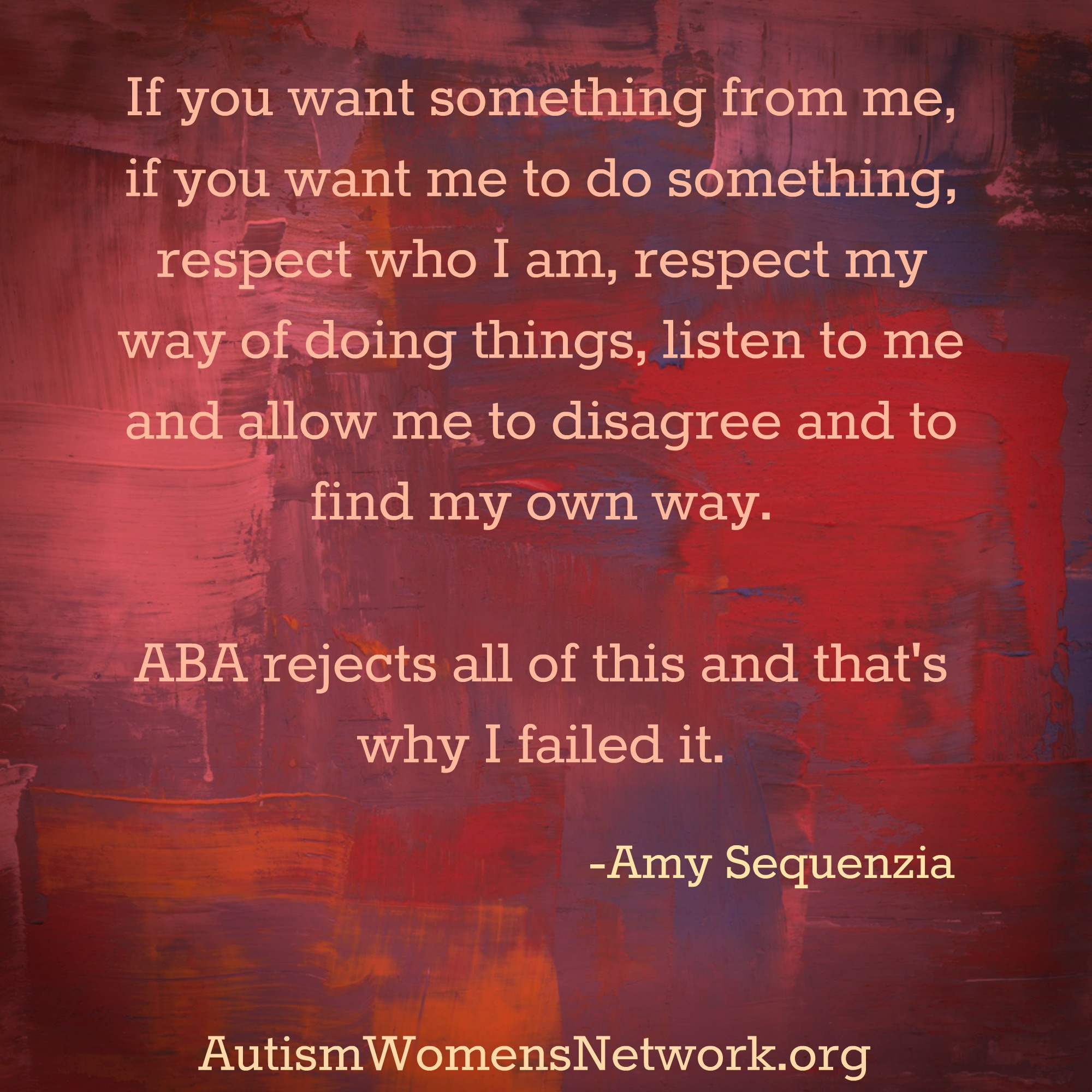 My Thoughts on ABA Autism Women s Network