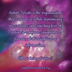 "What Does Autism Speaks ""Call For Unity"" Mean?"