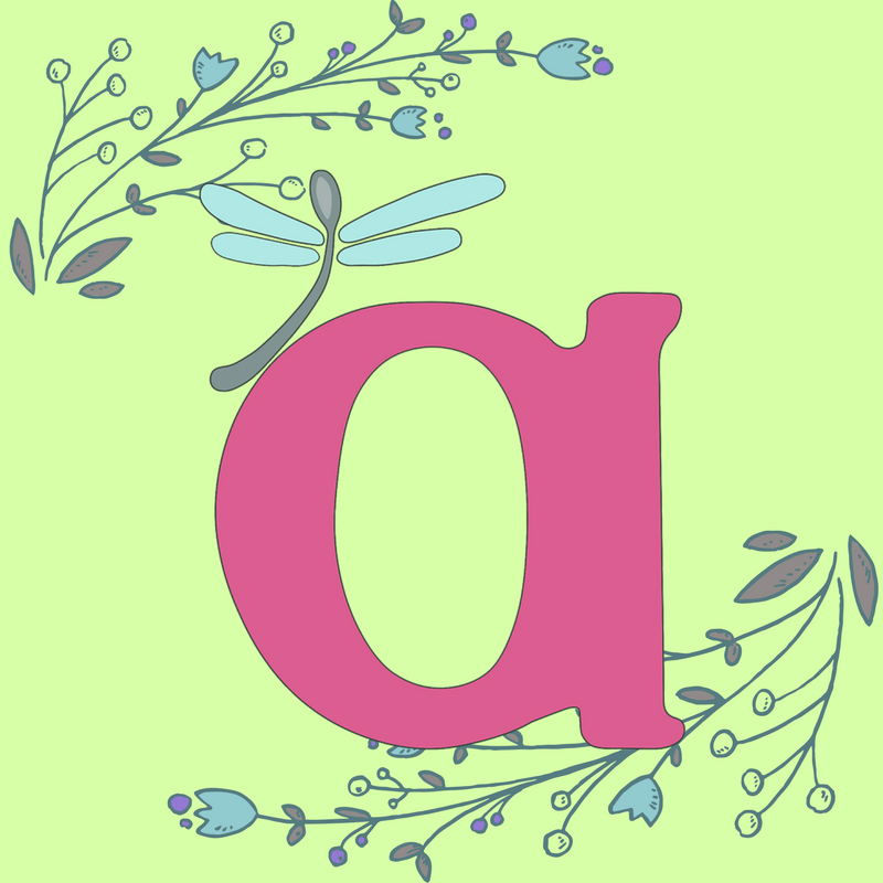 Image is the AWN logo with blue and purple floral garnishes on a spring green background