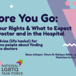 "[photo: screenshot of the cover page for the guide, which says in large text ""Before You Go: Know Your Rights & What to Expect at the Doctor and in the Hospital: Tips and Advice for Autistic Trans People About Finding and Going to Doctors."" the authors' names Sharon daVanport, Victoria M. Rodríguez-Roldán, Lydia X. Z. Brown, Illustrations by Erin Casey (Human). then the logos for AWN and the Task Force. the colors are subtly blue, purple, and pink.]"