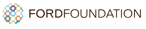 Logo for Ford Foundation. Shows many small shapes next to each other creating a strong network.